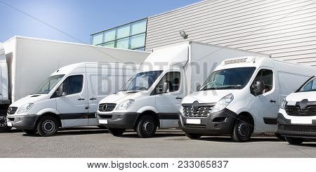 Delivery White Vans In Service