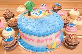 Постер, плакат: Пляж тематический день рождения торт