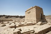 stock photo of isis  - Remains of the temple of cleopatra and the temple of Isis at Dendera - JPG