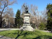Monument for Serbian-Bulgarian war in center of Pleven Bulgaria