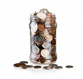 Money Jar Coins Jar Isolated Jar Coins Jar Money Jar Of Coins poster