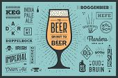 Poster Or Banner With Text To Beer Or Not To Beer And Names Types Of Beer. Colorful Graphic Design F poster
