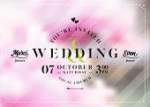 Vector Wedding Invitation In Pastel Colors. Beautiful Save The Date Card Design With Elegant Calligr poster