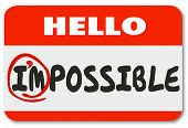 Im Possible Name Tag Positive Attitude Potential Illustration poster
