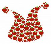 Joker Hat Composition Of Tomato Vegetables In Different Sizes. Vector Tomatoes Symbols Are Composed  poster