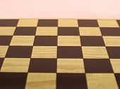 Chess Or Draught Checker Game Board poster