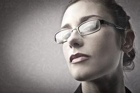 stock photo of snob  - Businesswoman with arrogant expression - JPG