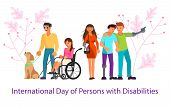 International Day Of Persons With Disabilities Banner Template. Flat Art Vector Illustration poster