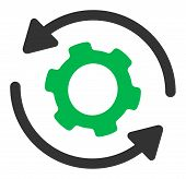 Infinite Rotation Raster Icon. Flat Infinite Rotation Pictogram Is Isolated On A White Background. poster