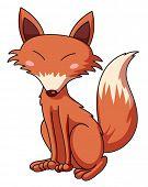stock photo of cunning  - Illustration of a cunning fox  - JPG