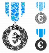 Euro Honor Medal Composition Of Uneven Items In Various Sizes And Color Tones, Based On Euro Honor M poster
