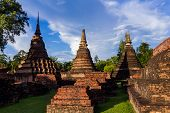 Wat Mahathat Is A Temple In Sukhothai Town Since Ancient Times. And Is The Temple Of Sukhothai Kingd poster