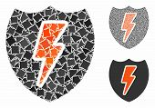 Power Shield Composition Of Joggly Parts In Different Sizes And Color Tints, Based On Power Shield I poster