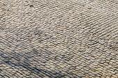Detail Of A Famous Crossroad On The Cobblestone Road Muur Van Geraardsbergen Located In Belgium. On  poster
