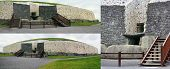 pic of corbel  - Newgrange in the Boyne Valley is a 5000 year old Passage Tomb - JPG