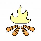 Campfire Icon Isolated On White Background From Camping Collection. Campfire Icon Trendy And Modern  poster