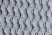 Gray Texture Of A Piece Of Plastic Sole With A Pattern poster