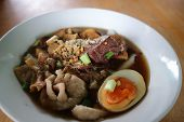 Noodle, Chinese Noodle Or Pork Noodle And Egg poster