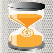 foto of hourglass figure  - Decorative Figure on an hourglass decorative seamless background - JPG