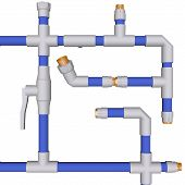 Plumbing System Fittings Water Pipeline Pvc