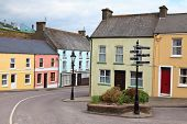 stock photo of west village  - Colorful houses in a West Cork village - JPG