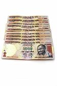 picture of mahatma gandhi  - Indian rupees in 1000 banknotes isolated on white - JPG