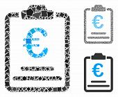 Euro Prices Composition Of Rough Parts In Various Sizes And Shades, Based On Euro Prices Icon. Vecto poster