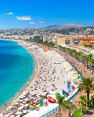Promenade Des Anglais In Nice, France. Nice Is A Popular Mediterranean Tourist Destination, Attracti poster