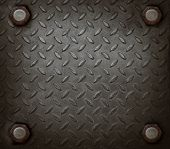 pic of stelles  - path of hard metal and knot use for grungy background show used texture - JPG
