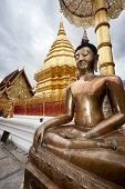 stock photo of budha  - Golden big Budha - JPG