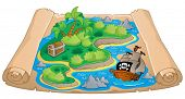 Treasure map theme image 4 - vector illustration.
