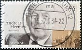 A stamp printed in Germany shows Andreas Hermes