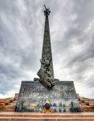 stock photo of nazi  - Poklonnaya Hill Obelisk in Victory Park Moscow Russia - JPG