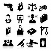 stock photo of terrorist  - Law Icons - JPG