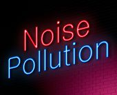 picture of noise pollution  - Illustration depicting an illuminated neon sign with a noise pollution concept - JPG