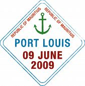 picture of dodo  - passport stamp of st louis mauritius created by me for my personal collection - JPG