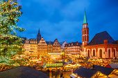 stock photo of weihnachten  - Traditional christmas market in Frankfurt - JPG