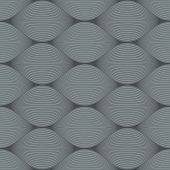 image of bulge  - Seamless grey bulge illusion vector pattern - JPG