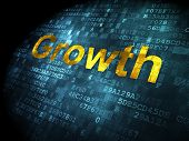Finance concept: Growth on digital background