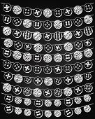 Vector Set of Chalkboard Style Button Bunting