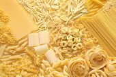 pasta assortment, italian food