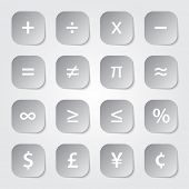Math financial symbols web buttons