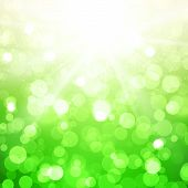 Blurred Summer Vector Background With Sun