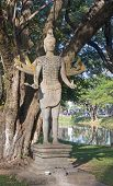 Statue In The Park By The River In Siem Reap