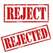 picture of rejection  - Set of grunge rubber stamps with text Reject and Rejected - JPG