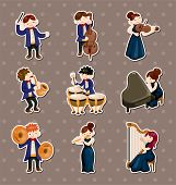 picture of orchestra  - Orchestra Music Player Stickers - JPG