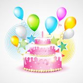 vector colorful background of birthday
