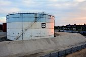 picture of big-rig  - French oil refinery in Fos on sea beside Marseille - JPG