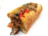 image of cheese-steak  - A Philadelphia cheesesteak sandwhich with prosciutto - JPG