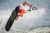 Waterski In Action - Man Shortboard